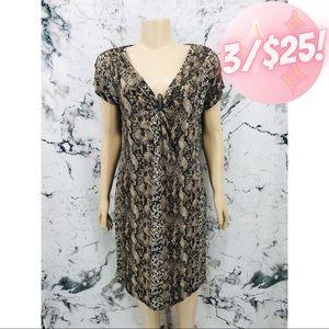 💖3/$25💖 Dana Buchman Snakeskin Midi Dress